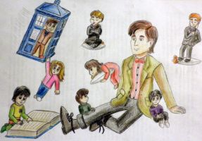 Eleventh Doctor the Chibisitter by CarryPhoenix