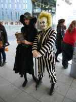 Lydia and Beetlejuice MCM Oct '12 by KaniKaniza