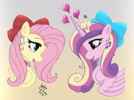 MLP FIM - Fluttershy and Cadence by Joakaha