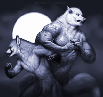 Shaded Sketch: Vasily and Shadow/Pavel by TeknicolorTiger