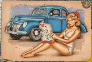 Pinups - 1939 Ford De Luxe by warbirdphotographer