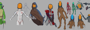 Doodling Dharacters by calciumpill