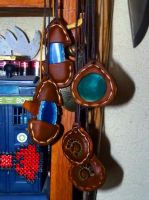 leather and agates pendants by funkydpression