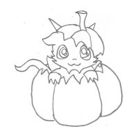 Cute Qujin in pumpkin by Poorartman