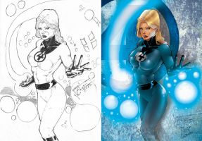 Invisible Woman color by DrixArt