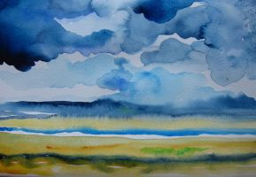TORRDGE ESTUARY RAIN CLOUDS by GeaAusten