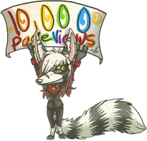 10000 pageviews by DeathcrowInk