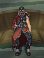 Gift: Auron chillin' by RennardX