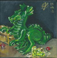 Lego Green Dragon by AmandaBates