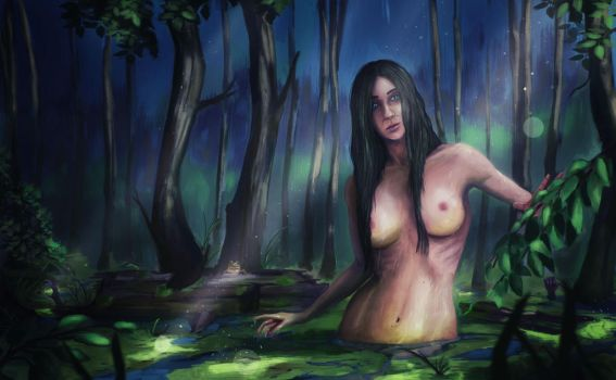 girl out of the swamp by cgartMan5ON