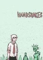 Handshakes page 1 by LunglessArt