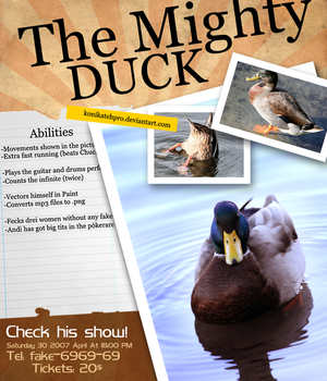 The Mighty Duck by konikatehpro
