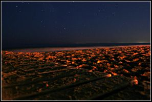 Jesolo Beach:Stars at Night by X3RoN