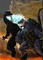 Godzilla vs Gamera by yongki-kim