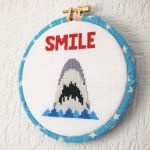 Smile-shark-cross-stitch-1-glamasaurus by AndyGlamasaurus