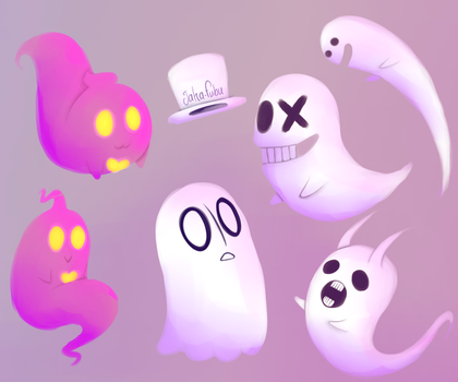 A new ghostie joins the party! by Jaha-Fubu