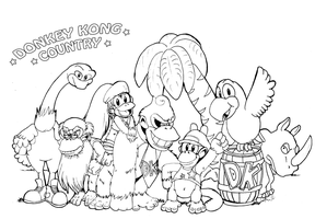 Donkey Kong Country by ScittyKitty