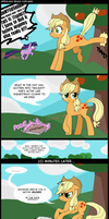 Applejack Reads Cupcakes by Musapan
