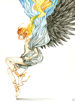 Descent of the Archangel by Lyioh