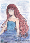 Sinking - ACEO by Disaya