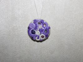 Purple Swirl Pendant by LunarFox94