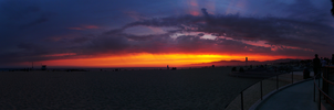 Venice Beach LA Sunset by cdooginz