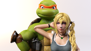 3DS Max - Serah and Mikey by SilverMoonCrystal