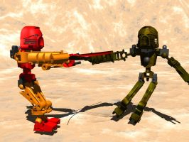 Bionicle Fight 2 by Kennysorel