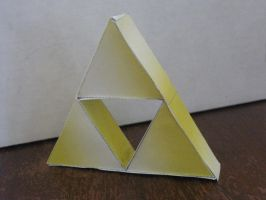 Triforce Papercraft by ganon-destroyer