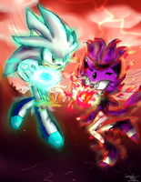 +Silver VS Dark Blaze+ by WendySakana