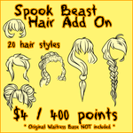 Spook Beast Hair ADD ON by Omega-Fluff