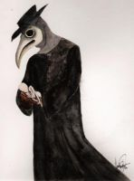 Mournful Vulture by CreepyCourt