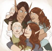 Happy Family by cryptfever