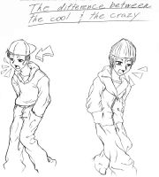 the cool and the crazy by Muffyn-Man