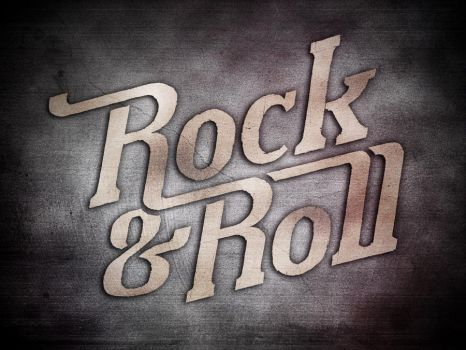 Rock n Roll Lettering by shinz0n