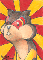 I'm Watchoging You ACEO by Zalcoti
