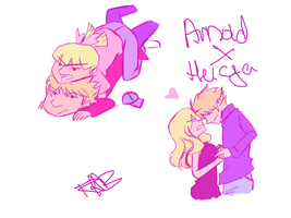 Arnold/Helga by DontbeModest