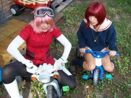 FLCL - Tricycle love by cosPOPproductions