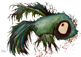ds the zombie betta fish by doodlingstateofmind
