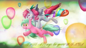 I will always be your wings (Best Friends Contest) by mariomenso