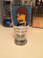 Homer Simpson pint glass by SurrealNightmares666