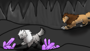 Caving~Shiny rocks! by Flynn14