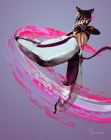 Juri Han - Street Fighter 4 by mansarali