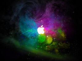Cosmic Apple Wallpaper by Hikero