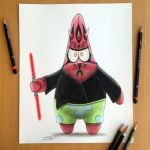 Darth Patrick Pencil Drawing by AtomiccircuS