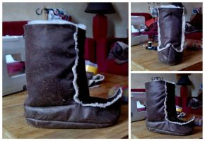 New Kristoff Cosplay Shoes In Progress (Frozen) by ChiruNoCosplay