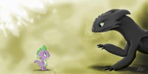 Toothless Meets Spike? by Dashketch