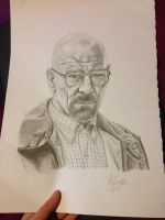 Breaking Bad Walter White/Heisenberg Pencil Sketch by AimzzArt