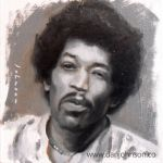 Jimi Hendrix by drawmyface