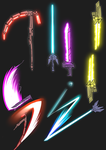 Random Sketches Chap. 137: RWBY Lightsaber by lightning-in-my-hand
